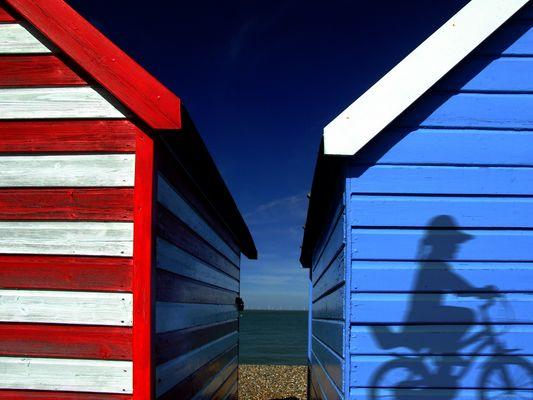 on the beach..........