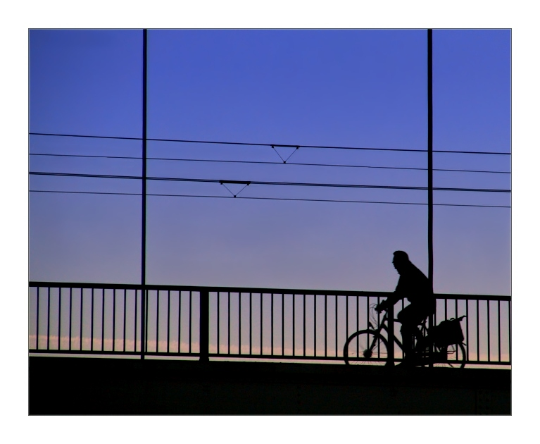 ...on the bridge....