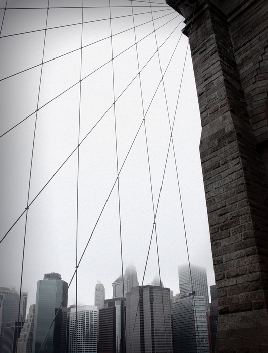 On the Brooklyn Bridge ...
