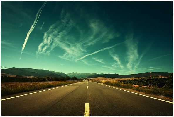 ... on the road...