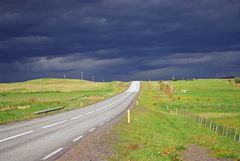 on the road at Iceland