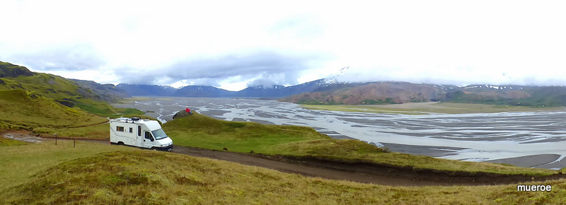 On the road, but offroad in Austurland, Iceland,