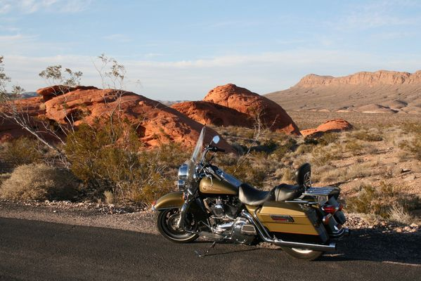 On the road -Harley Red Rock Canyon-