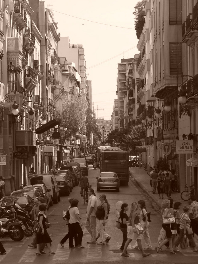on the road in valencia