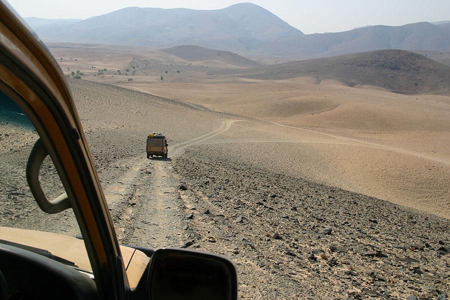 On the road - Kaokoland, Namibia