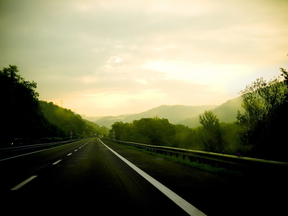 On the road to Milano.