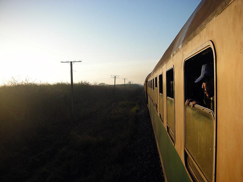On the train to Bayamo, Cuba.