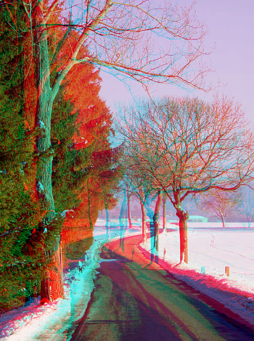 Once upon a time it was winter - Anaglyph 3D