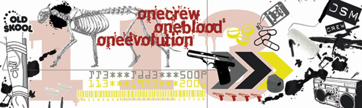 one crew one blood one evolution