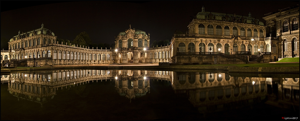 one day in saxony - Dresden - Zwinger in the mirror