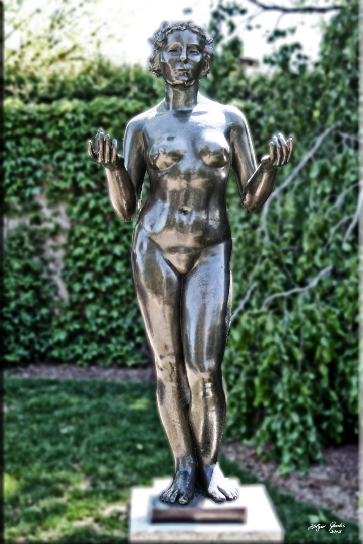 One of Aristide Maillol's Three Nymphs in the sculpture garden