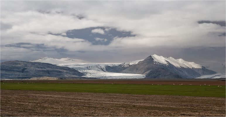 One of the glaciers in iceland