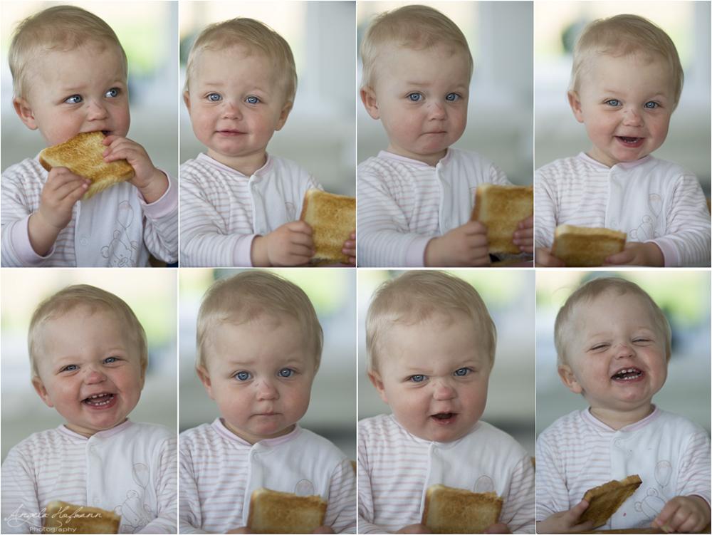 one piece of toast