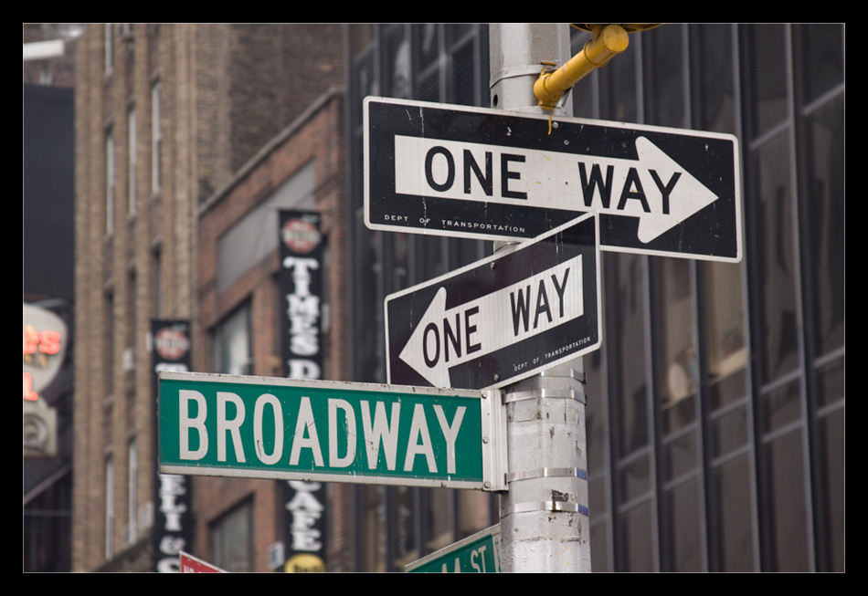 one way to broadway