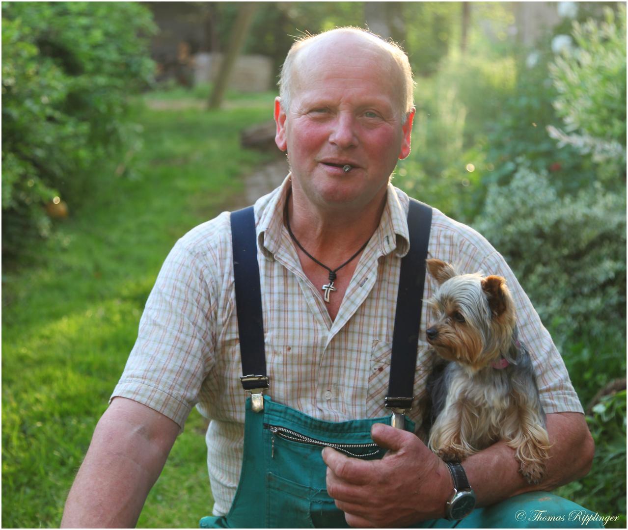 Opa und der Hund....