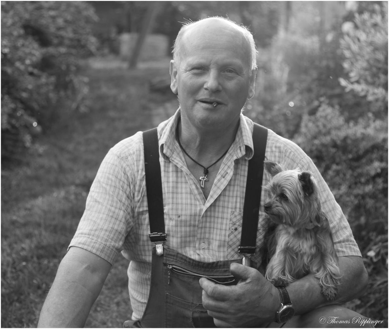 Opa und der Hund.... sw