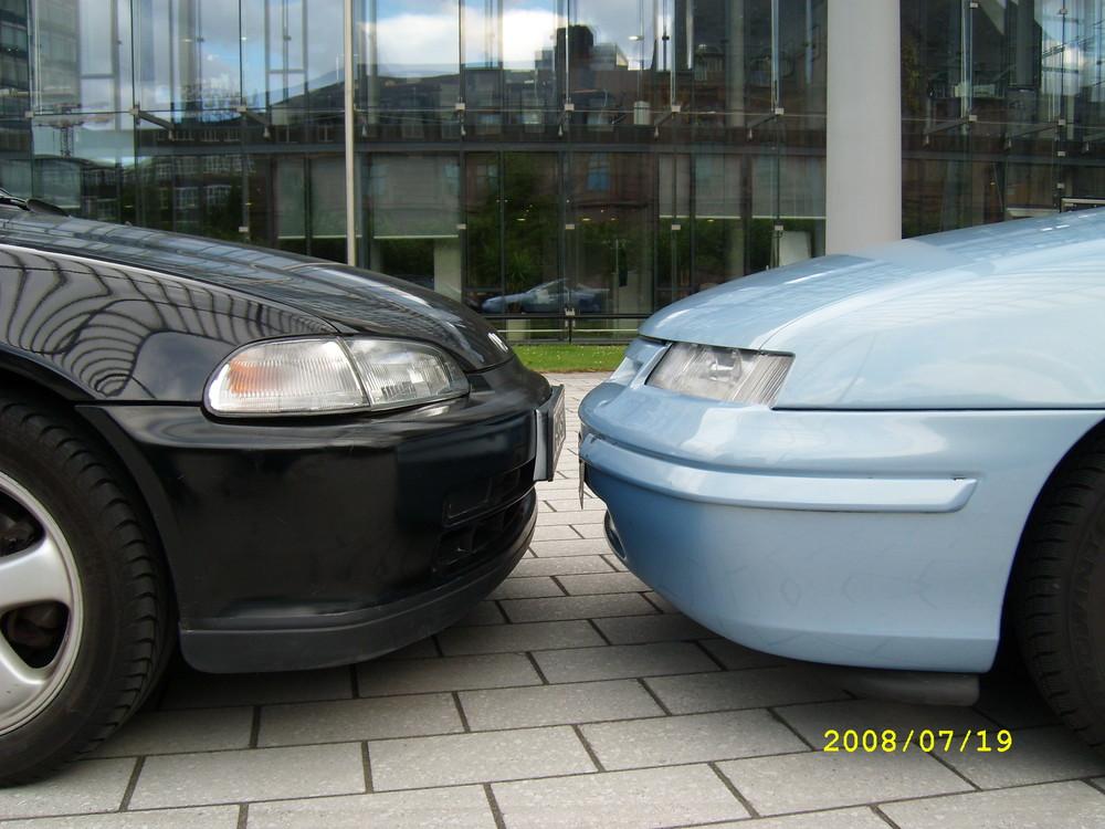 Opel Calibra feat. Honda Civic