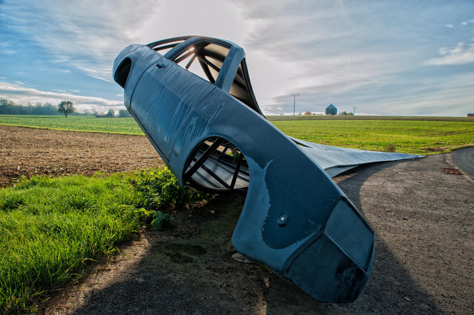 Opel Manta im Feld