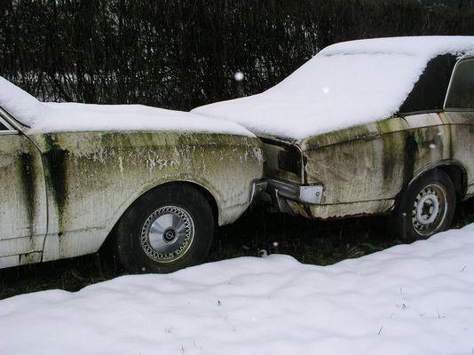 Opel Rekord und Opel Rekord im Schnee