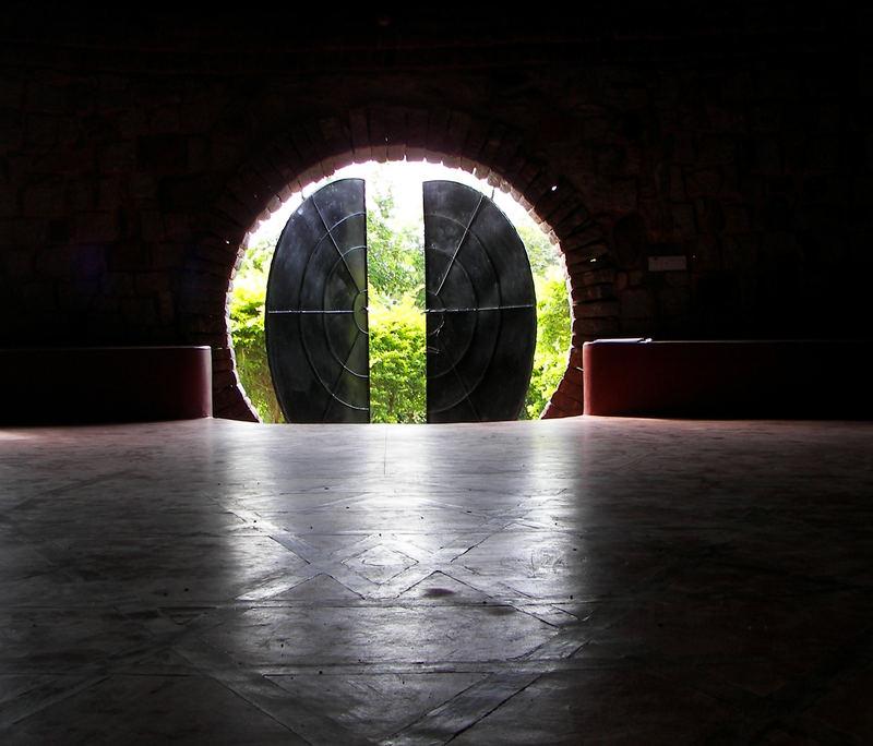 Open door to light...