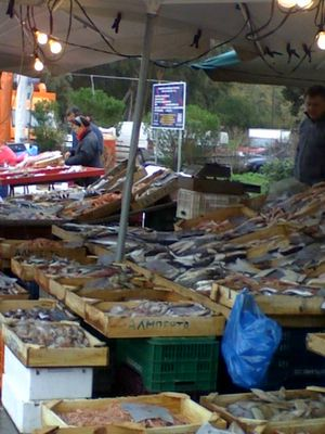 Openair Market in Chalkida