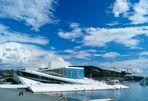 Oper Oslo - Komposition in Blau-Weiß