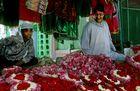 Opferblumen in Ajmer