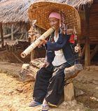 Opiumraucher, Bergvolk der Karen