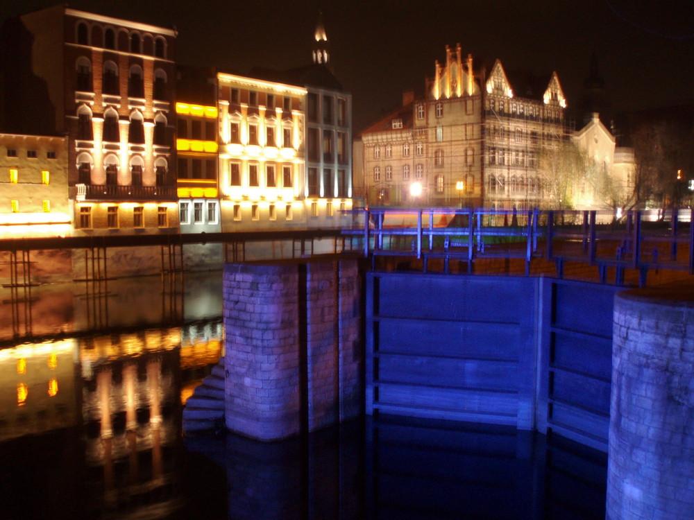 Opole bei Nacht 3