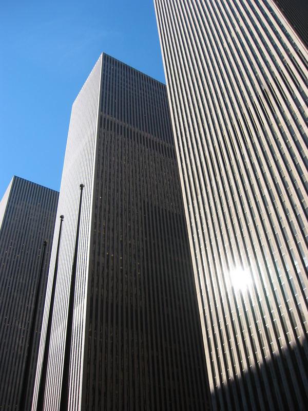 opposite the Rockefeller Center
