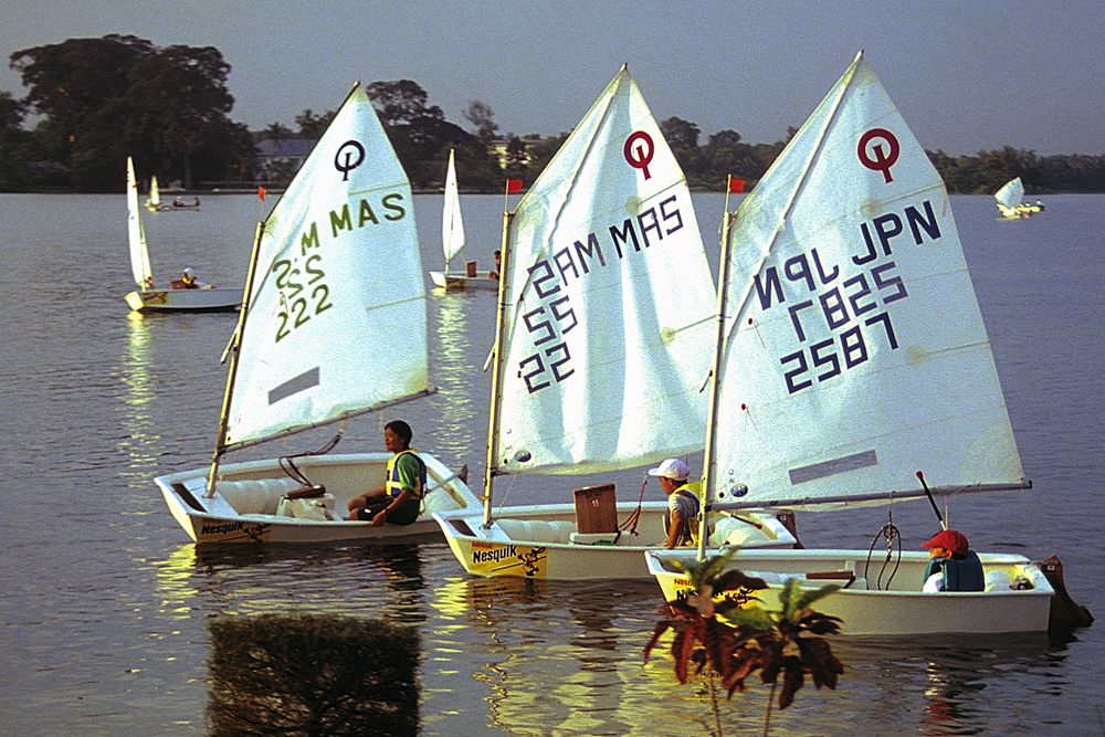 Opti Regatta on the Inya lake