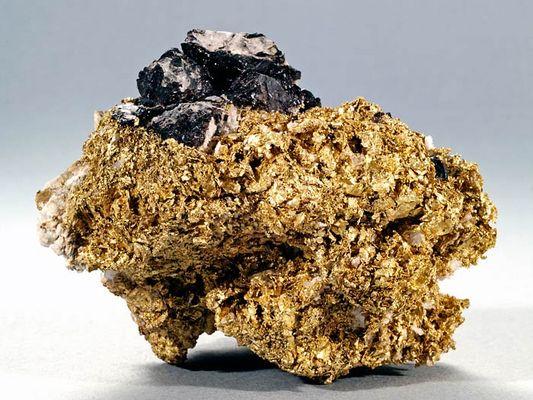 Or natif (Native Gold), Quartz, Blende