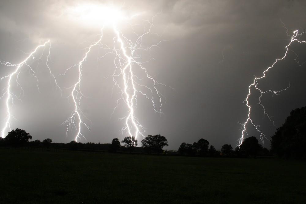 orage de campagne