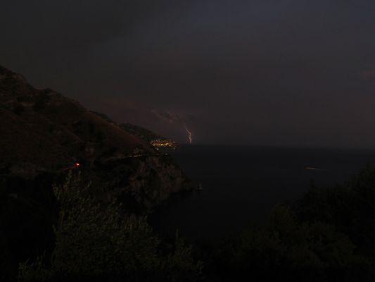 Orage sur la côte Amalfitaine