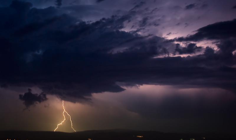 orage sur la montage