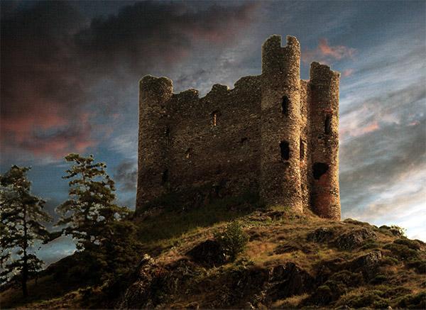 Orage sur le chateau