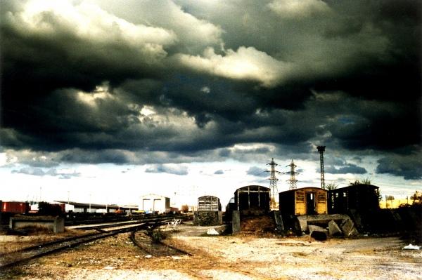 Orage sur le port du Havre