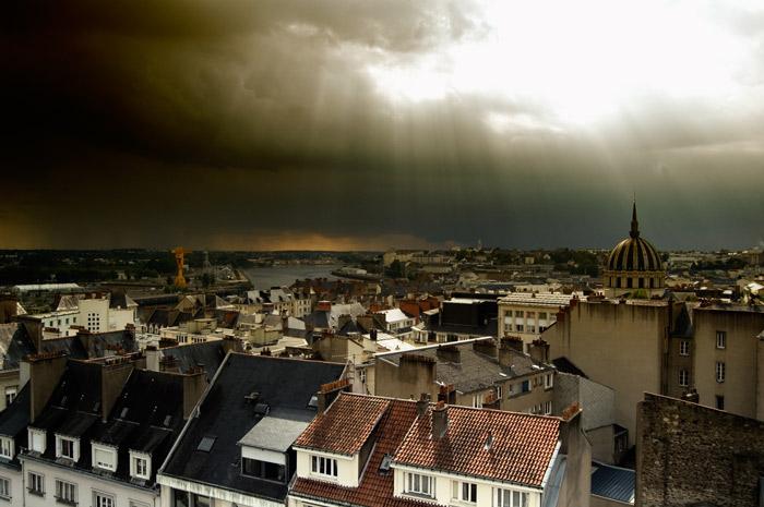 Orage sur Nantes