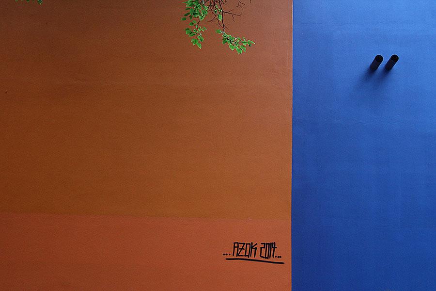 Orange-blau (und etwas grün)