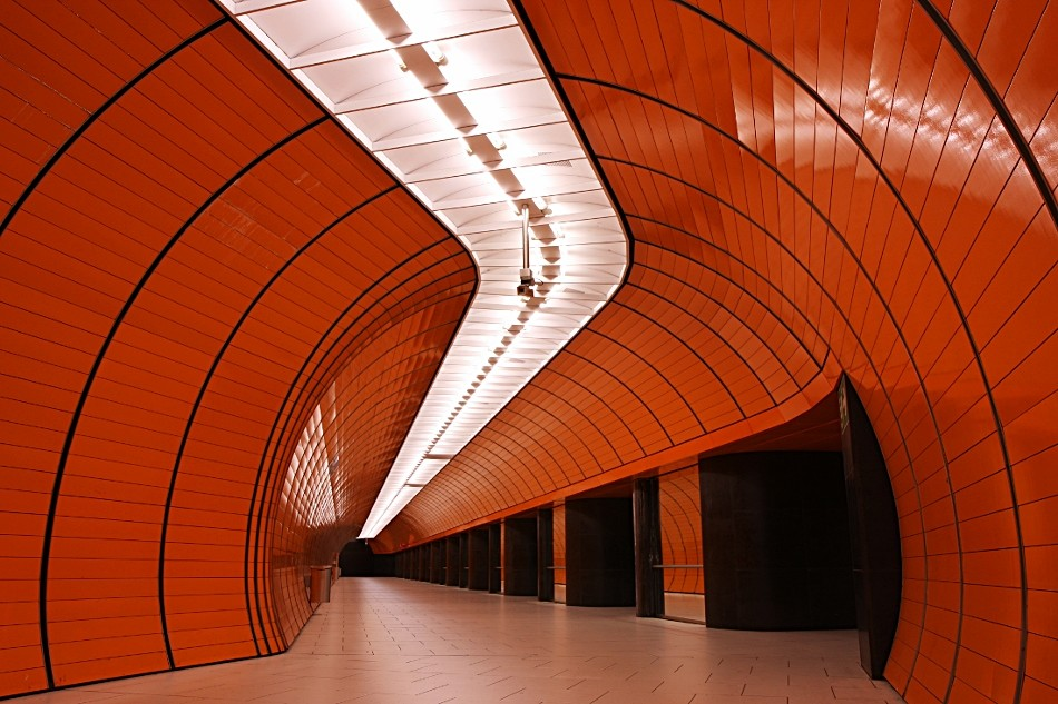 Orange unterm Marienplatz