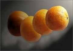 Orangen im All