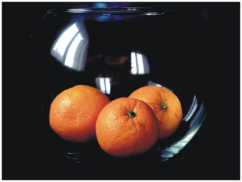 Orangen im Glas