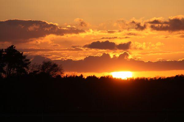 Oranger Sonnenuntergang