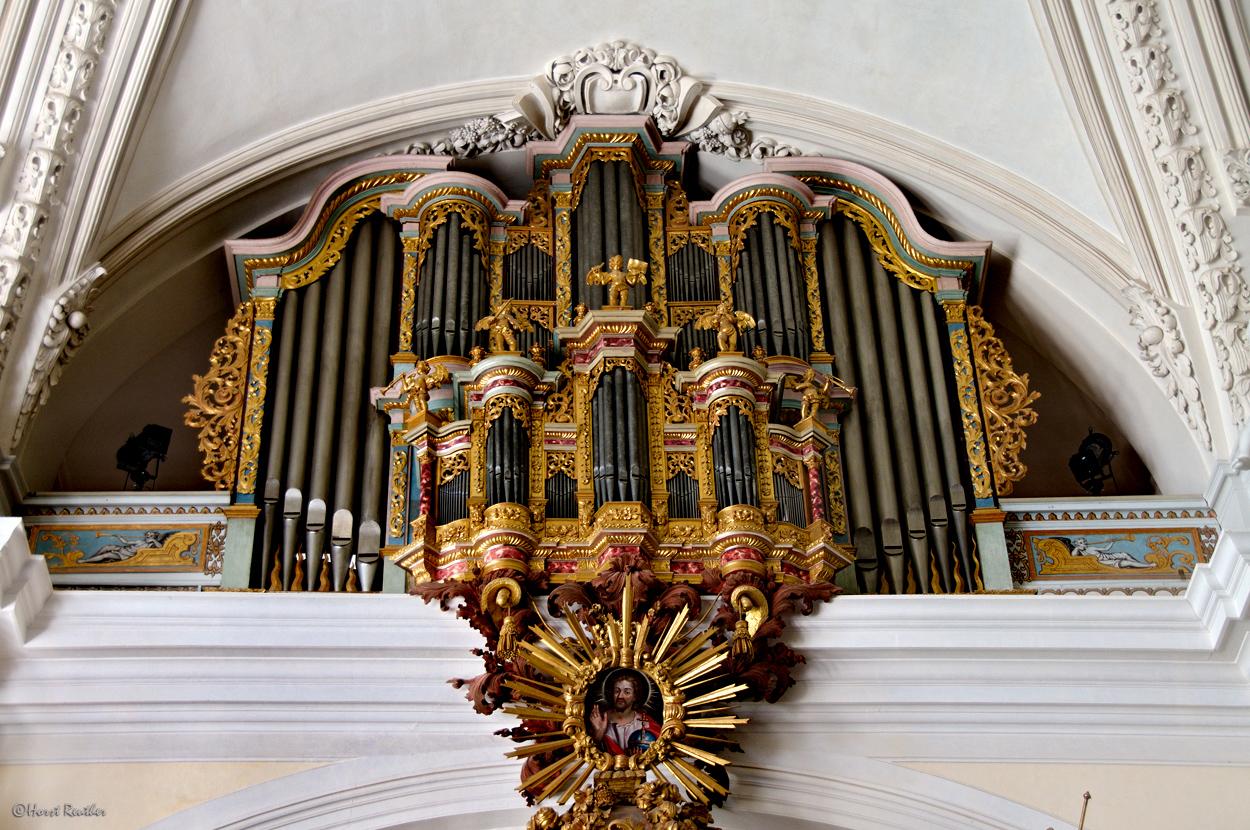 Orgel in der Schloss-Kapelle  Weilburg.