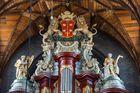 Orgelaufsatz in der Grote Kerk - Haarlem/Niederlande
