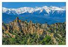Orgues, Ille sur Tet vor den Pyrenäen