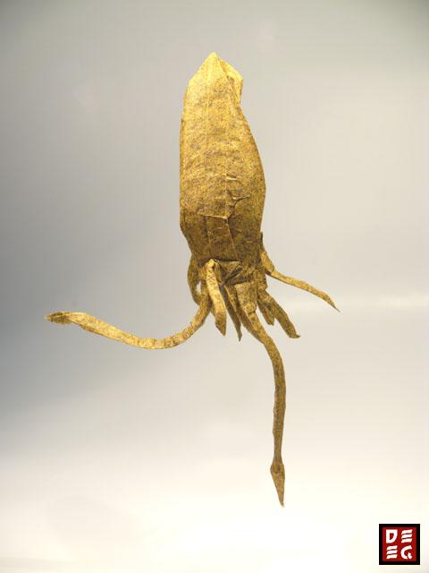 Origami Tintenfisch - Squid by Rudolf Deeg