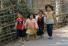 Origin kids in Song Cha village near Oudom Xai in northern Laos
