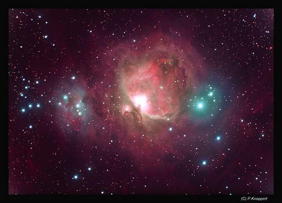 Orion-Nebel mit Schmalbandfilter aufgenommen