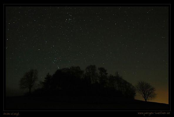 Orion steigt